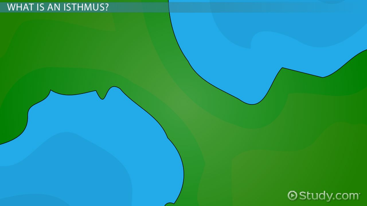 Isthmus Landform: Definition and Examples - Video & Lesson ...