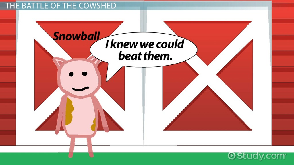 Battle Of The Cowshed In Animal Farm Symbolism Analysis Video
