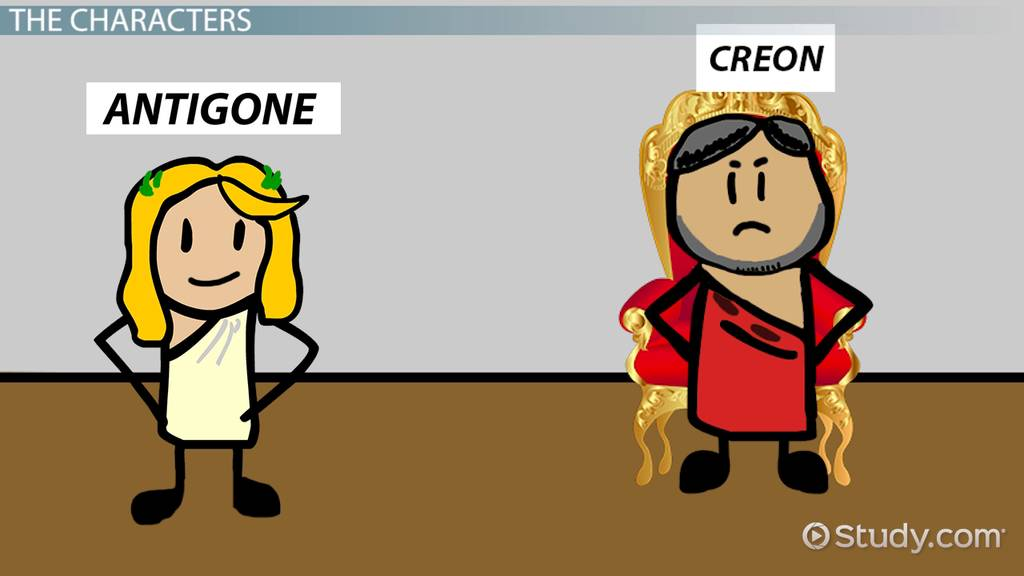 a comparison of antigone and creon in antigone by sophocles