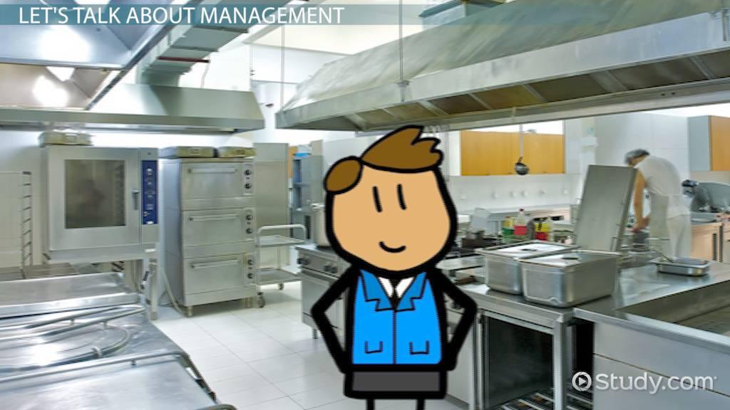 Food U0026 Beverage Operations Management: Levels U0026 Roles   Video U0026 Lesson  Transcript | Study.com