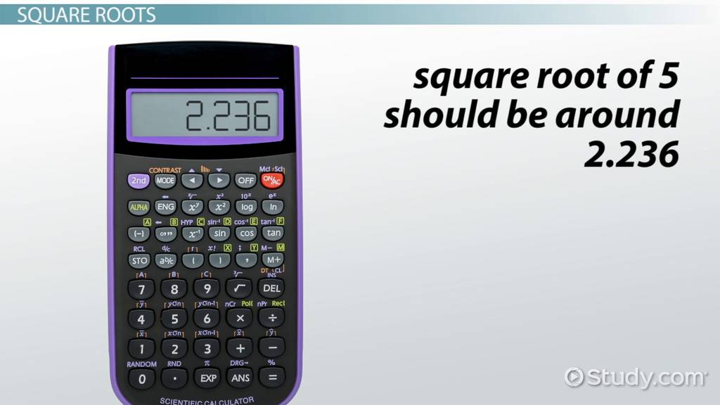 How To Evaluate Roots With A Scientific Calculator Video Lesson