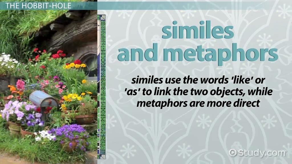 The Hobbit Metaphors Similes Video Lesson Transcript Study