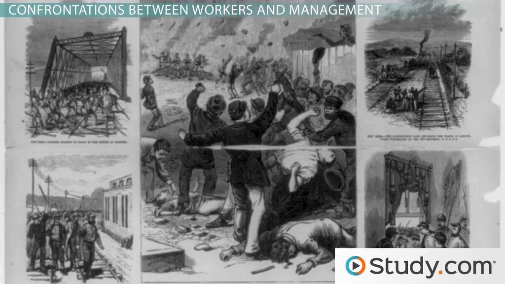 Development of labor unions as a result of the industrial revolution