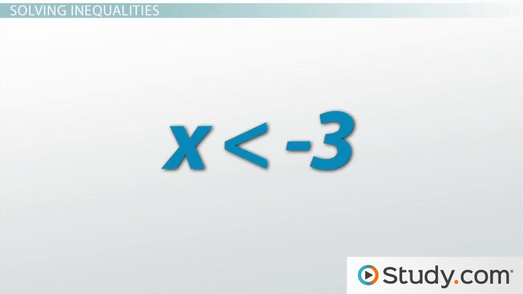 Less Than Symbol In Math Problems Applications Video Lesson