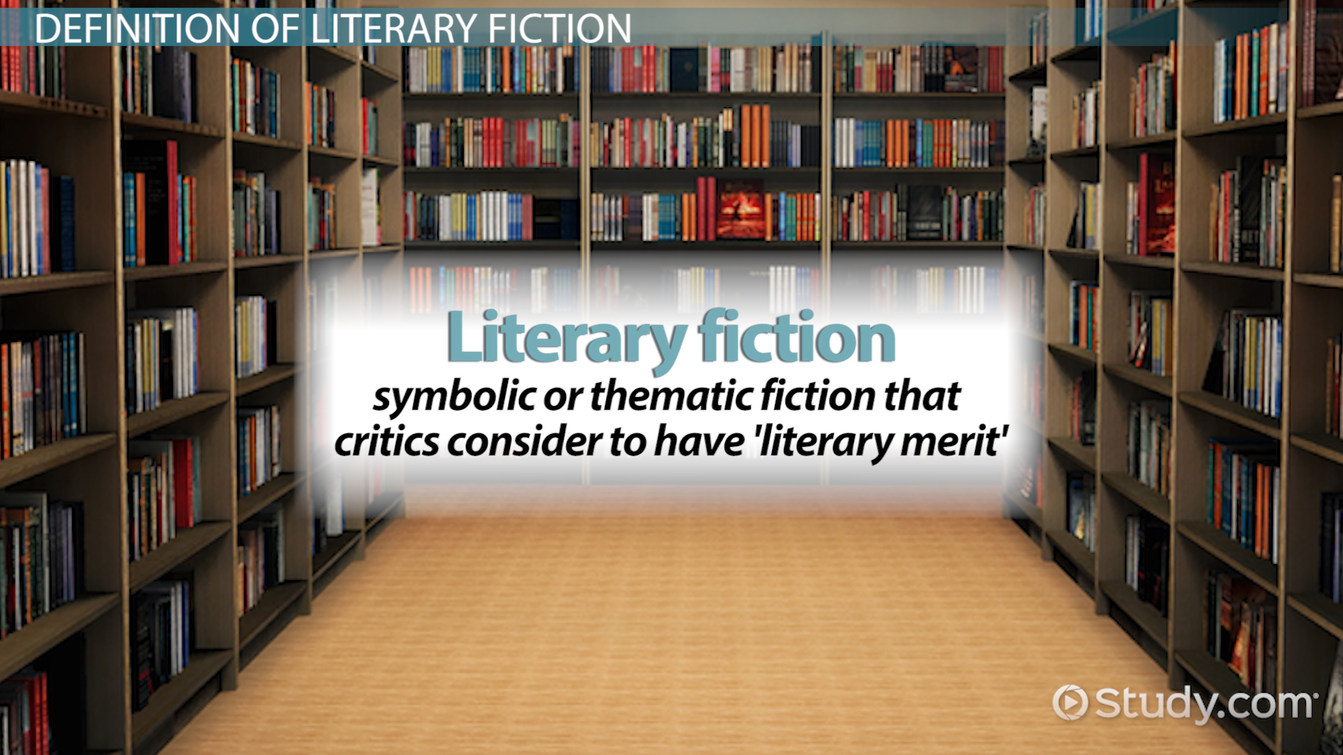 Literary Fiction Definition Examples Video Lesson Transcript