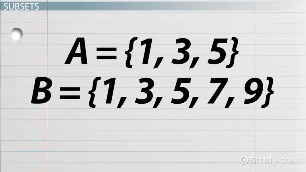 Set Notation Definition Examples Video Lesson Transcript