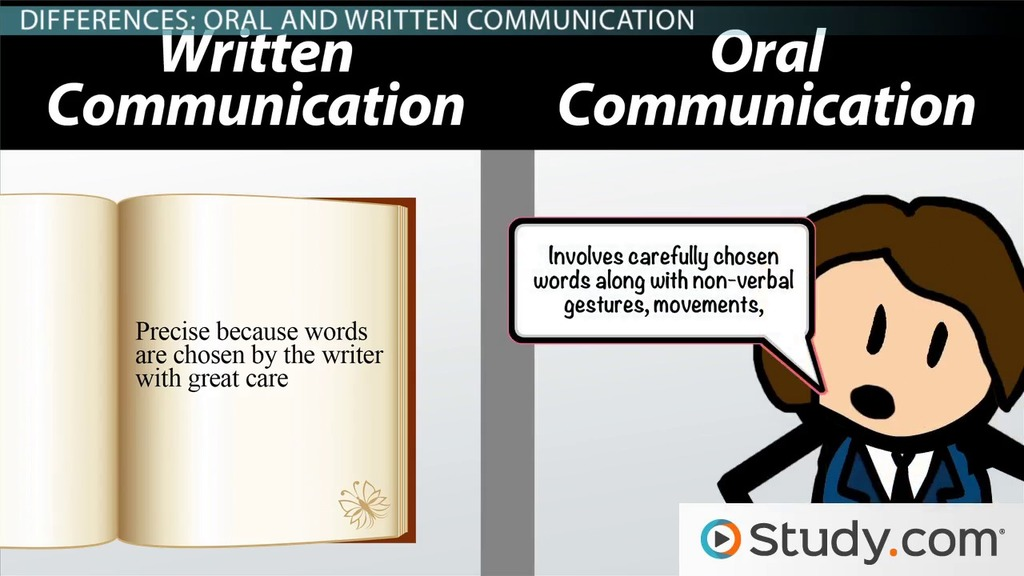 Major Differences Between Oral and Written Language Styles