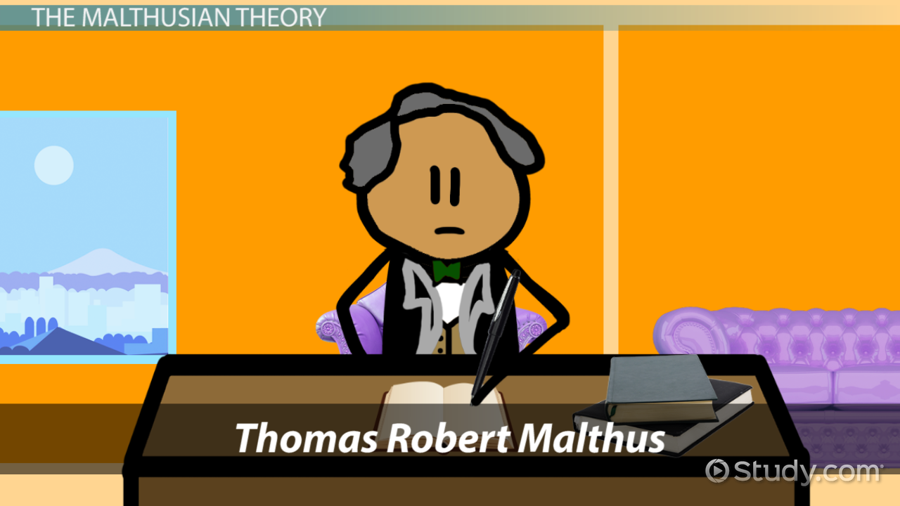thomas malthus theory of human population growth video lesson malthusian theory of population growth definition overview