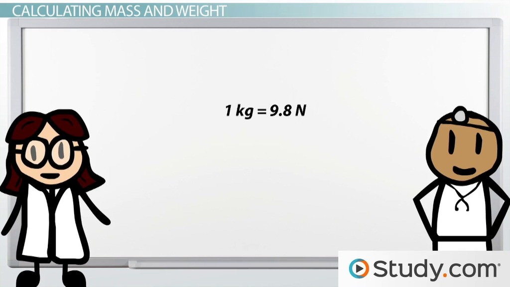 Mass and Weight: Differences and Calculations - Video & Lesson