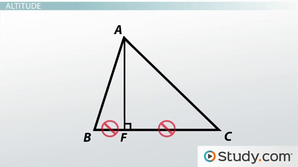 Median Altitude And Angle Bisectors Of A Triangle Video Lesson