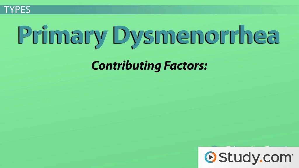 Dysmenorrhea - American Family Physician