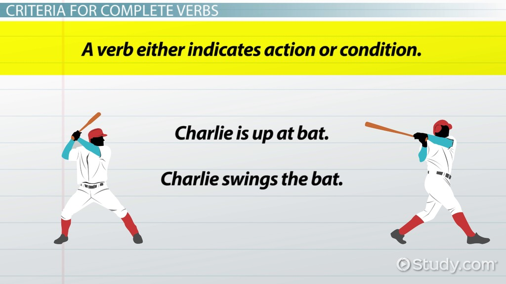 What Is A Complete Verb Definition Examples Video Lesson