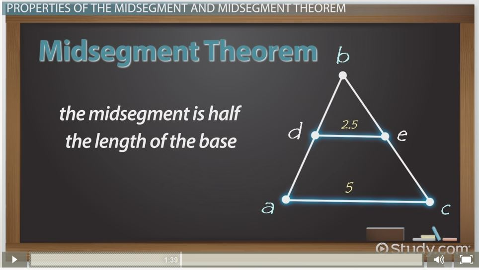 Midsegment Theorem Formula Video Lesson Transcript Study Com