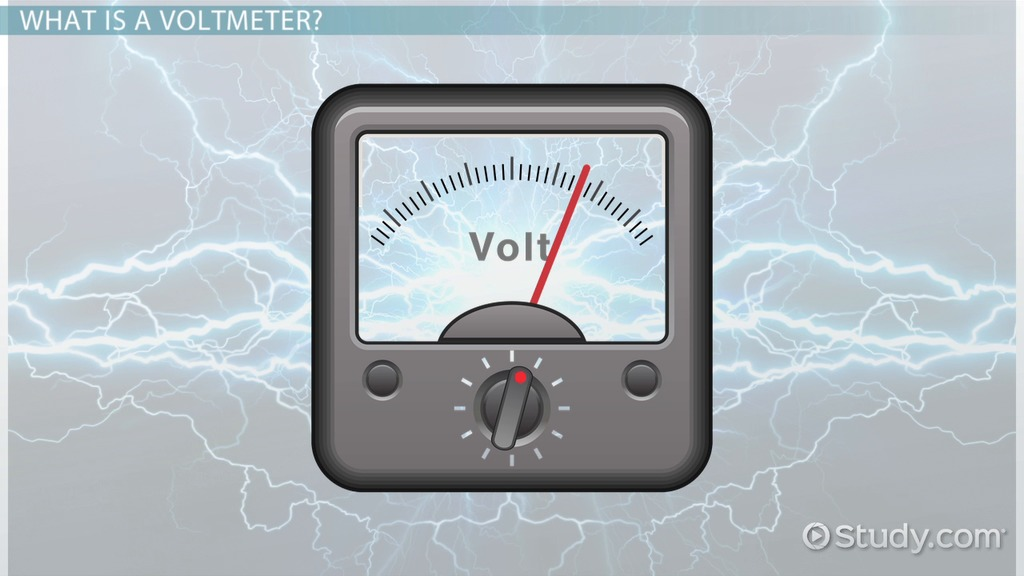 What Is A Voltmeter Definition Uses Video Lesson Transcript