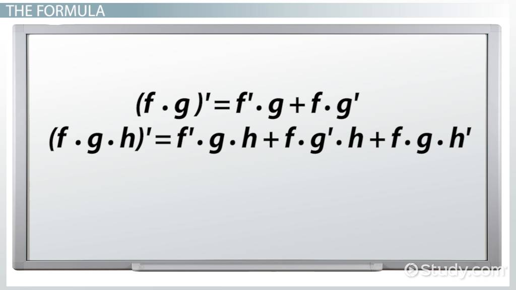 product rule in calculus  formula  u0026 examples