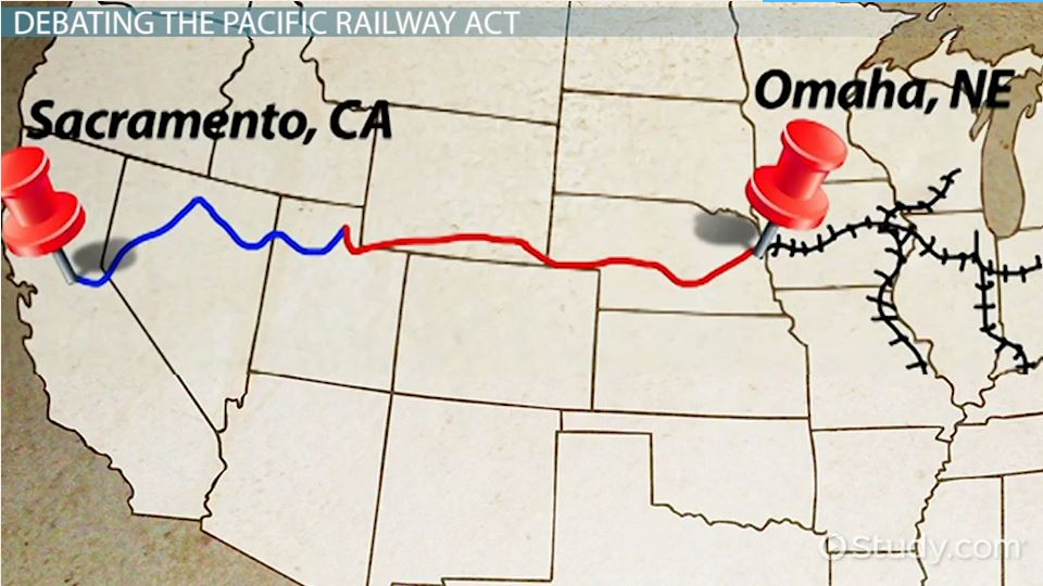 pacific railway act of 1862 definition amp summary video