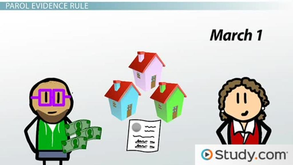 Parol Evidence Rule Definition Examples Purpose Video Lesson