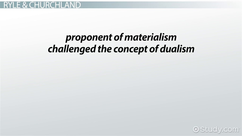 materialism and dualism essay