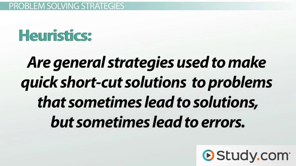 Types Of Problems Problem Solving Strategies Video Lesson