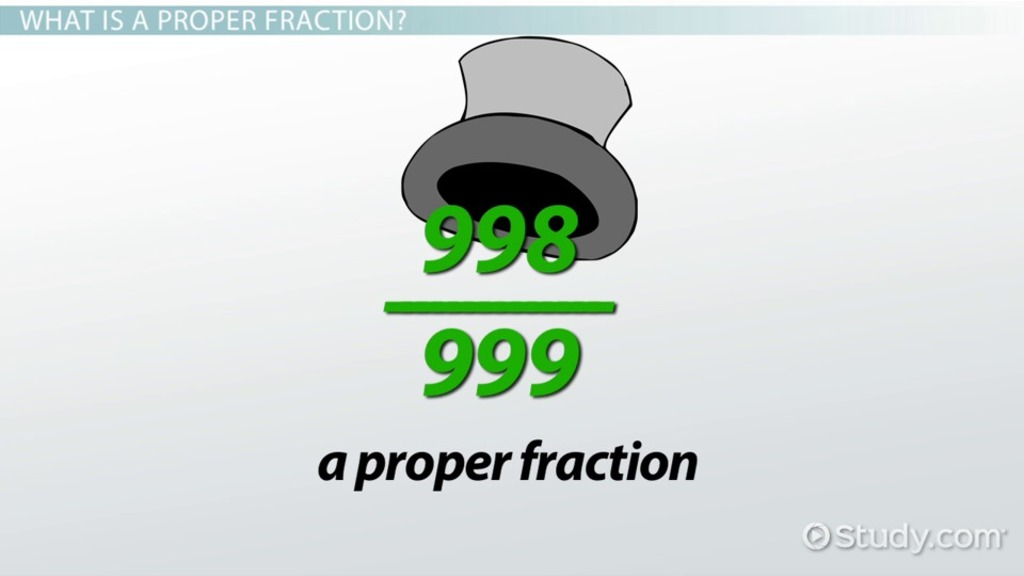 Proper Fractions Definition Amp Examples Video Amp Lesson
