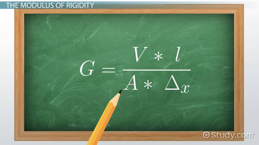 Modulus Of Rigidity Definition Equation Video Lesson