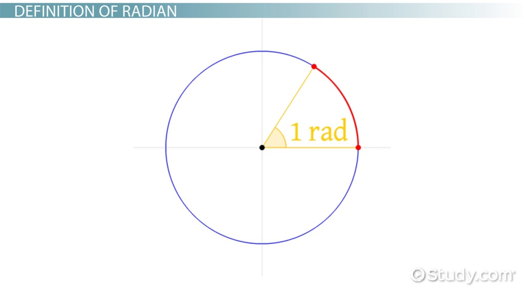 Radian Measure Definition Formula Video Lesson Transcript