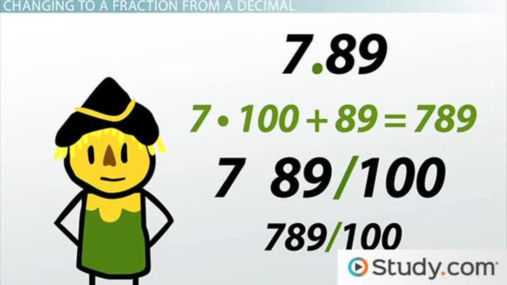 Relating Fractions and Decimals - Video & Lesson Transcript | Study.com