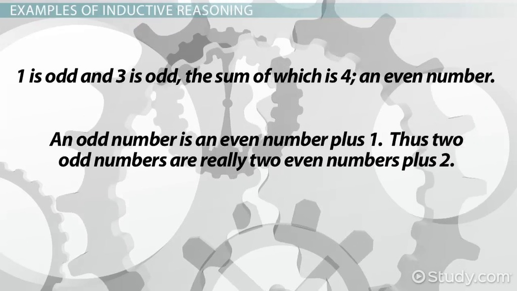 Reasoning In Mathematics Inductive And Deductive Reasoning
