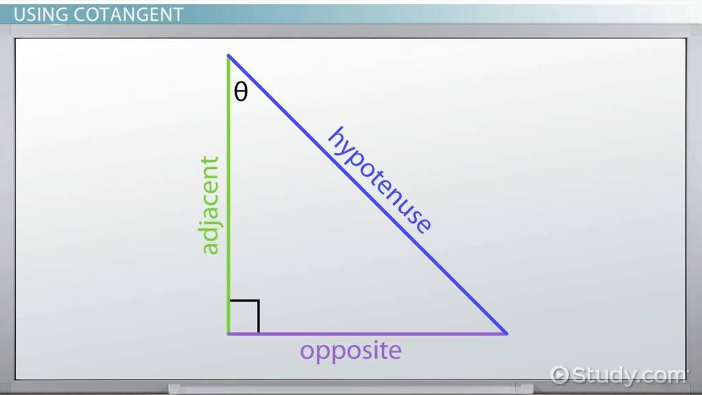 Cotangent Definition Formula Video Lesson Transcript Studycom