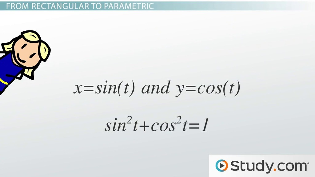 How to write the equation of an ellipse in standard form video converting between parametric rectangular forms fandeluxe Choice Image
