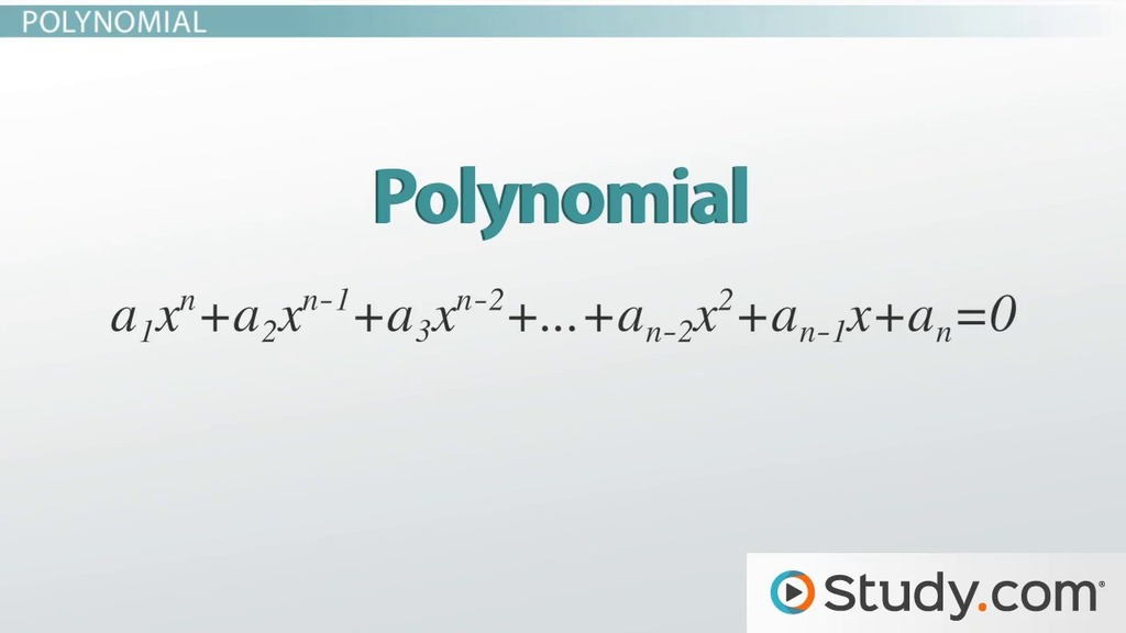 Common Algebraic Equations Linear Quadratic Polynomial And More