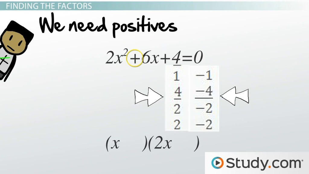 Solving Quadratic Trinomials by Factoring - Video & Lesson