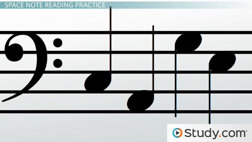 How To Read Notes Of The Bass Clef Staff Video Lesson Transcript