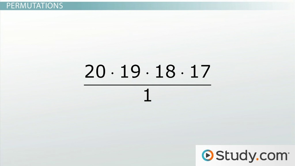 How To Calculate The Probability Of Permutations Video Lesson