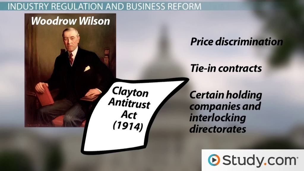 Trust Busting and Government Regulations on Economy & Industry in the Progressive Era