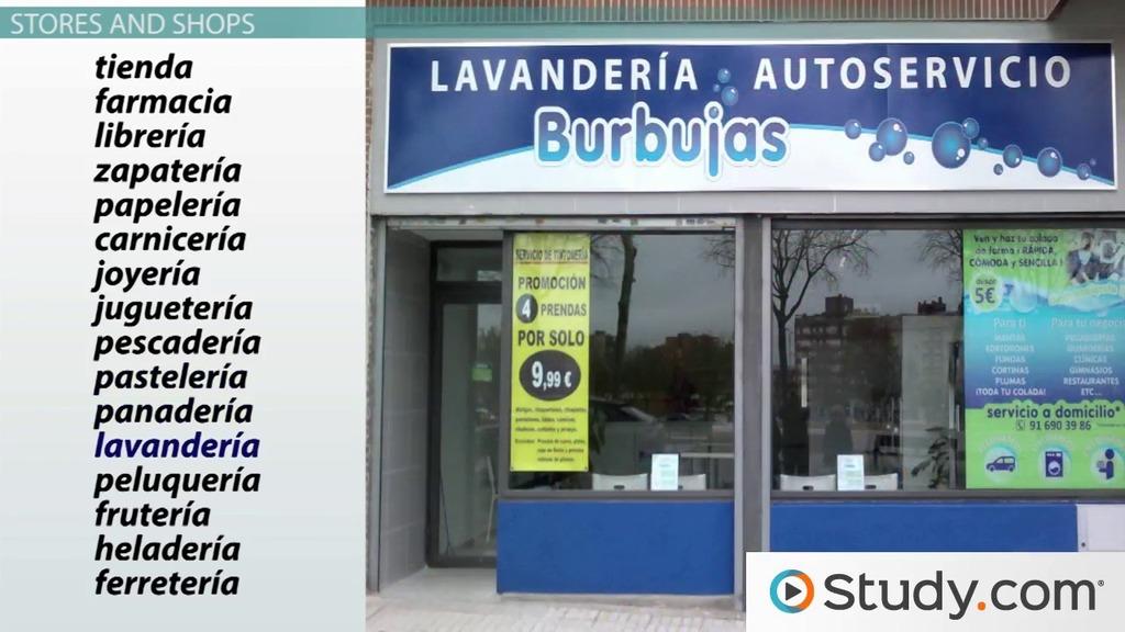 spanish stores shopping vocabulary video lesson transcript. Black Bedroom Furniture Sets. Home Design Ideas
