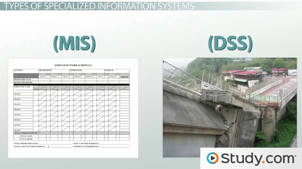 What Are Specialized Information Systems? - Decision Support