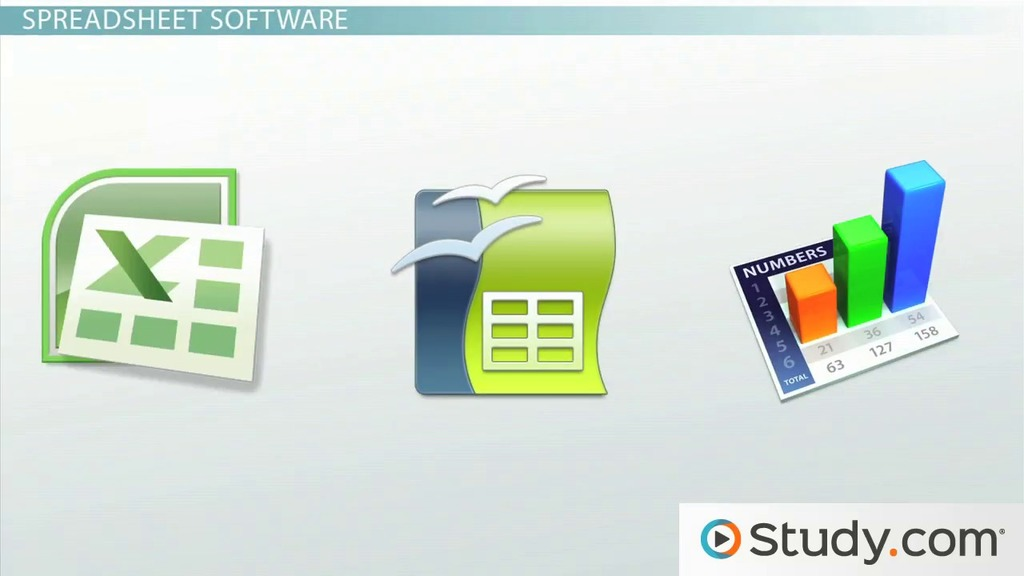 Database and Spreadsheet Software: Excel, Access, dBase & Lotus 1-2-3 - Video & Lesson ...