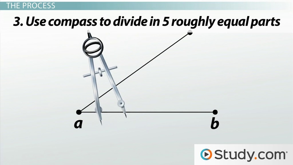 Dividing line segments into equal parts geometric construction dividing line segments into equal parts geometric construction video lesson transcript study fandeluxe Image collections
