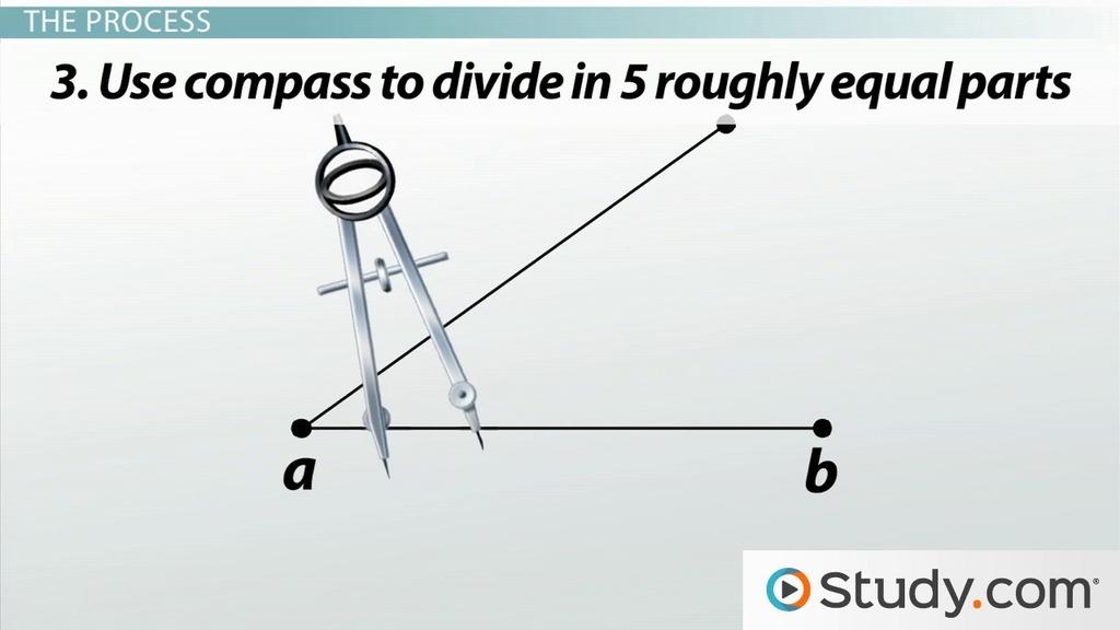 Dividing Line Segments into Equal Parts: Geometric Construction