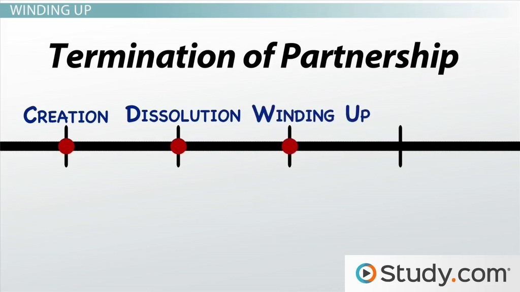 Dissolution And Termination Of A Partnership Video Lesson
