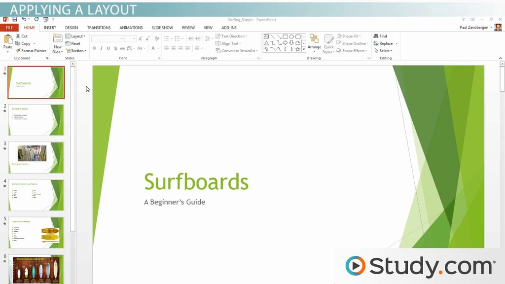 formatting your powerpoint presentation using slide masters and layouts video lesson transcript studycom