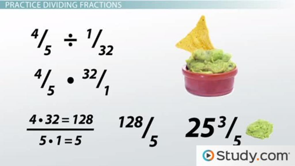 Dividing Fractions And Mixed Numbers Video Lesson Transcript