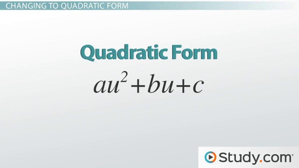Factoring Polynomials Using Quadratic Form Steps Rules Examples