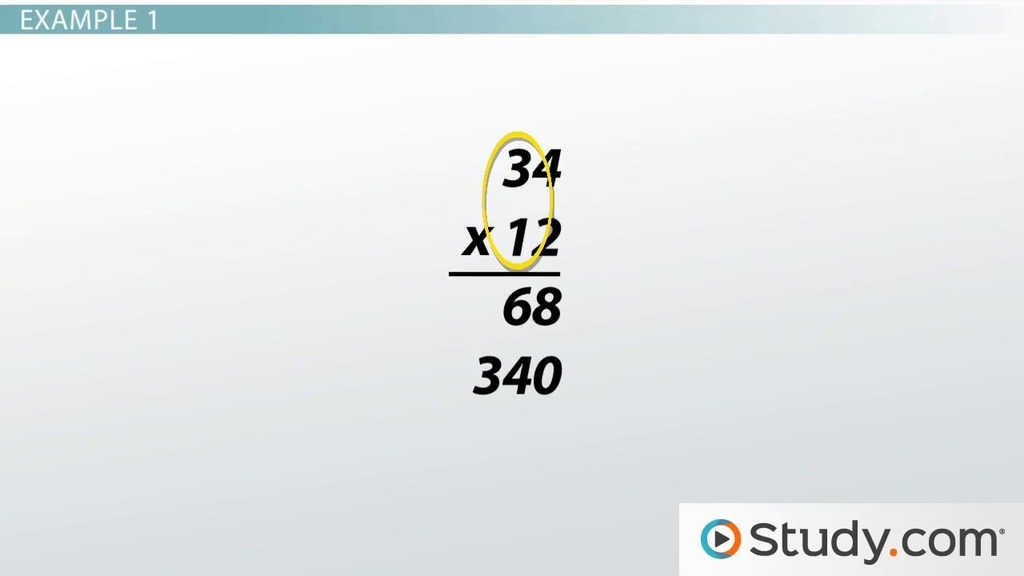 How to Multiply Large Numbers: Steps and Examples - Video & Lesson ...