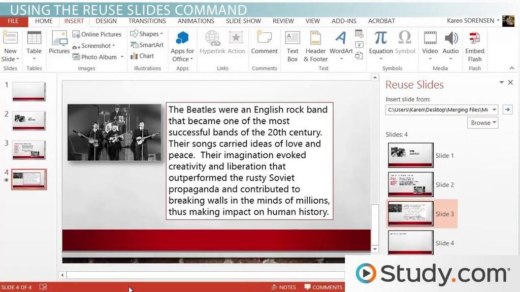 Combine content from multiple presentations in powerpoint video combine content from multiple presentations in powerpoint video lesson transcript study toneelgroepblik Image collections