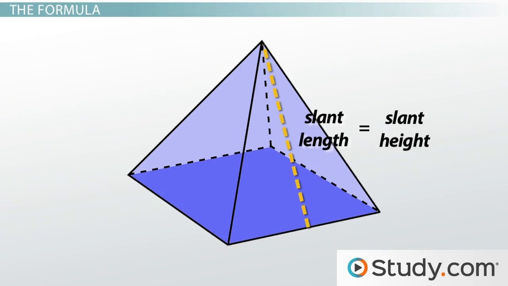 How to Find Surface Area of a Pyramid - Video & Lesson Transcript ...