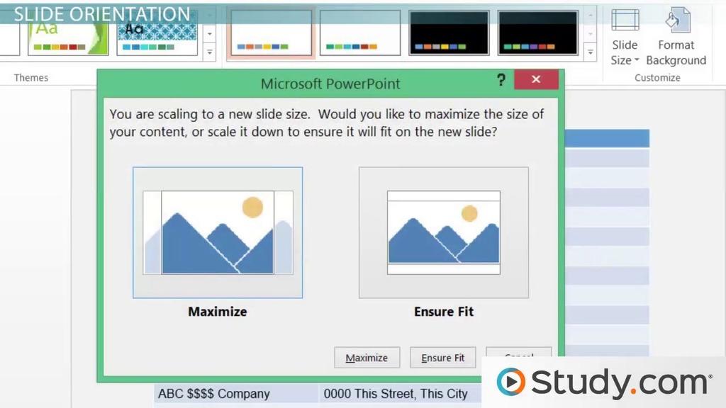 understanding slide orientation in powerpoint