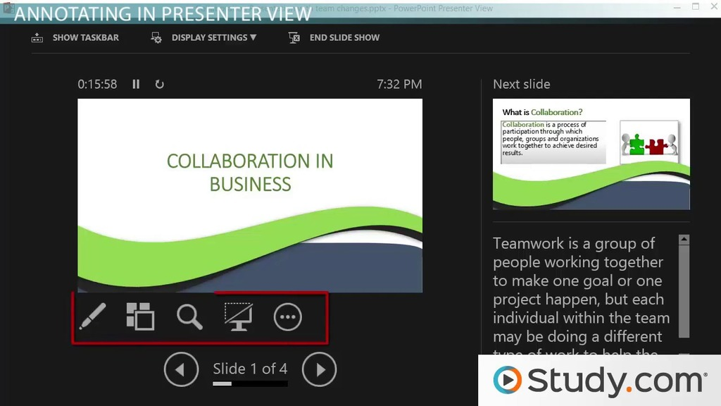 how to present your powerpoint slideshow annotations presenter