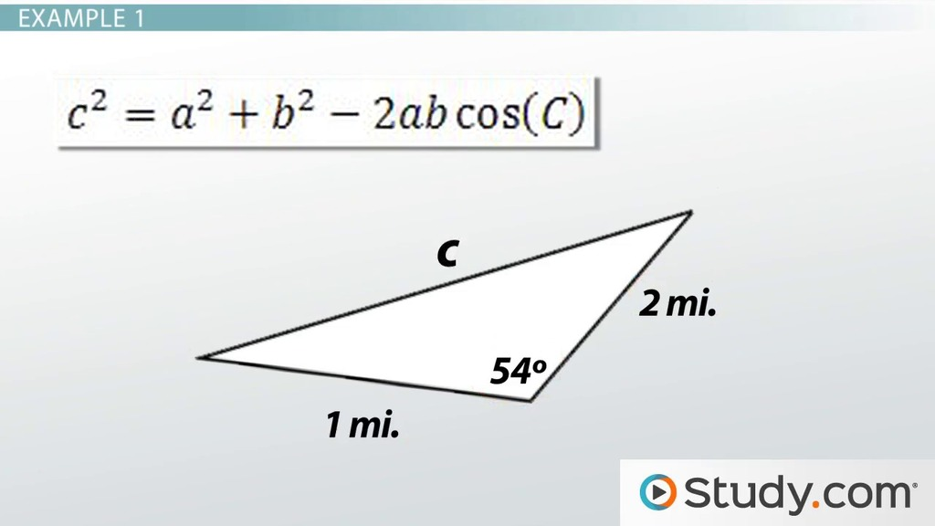 Solving Real World Problems Using The Law Of Cosines Video
